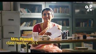 Mrs. Prasad, class teacher IX-C has a sneaky Valentine