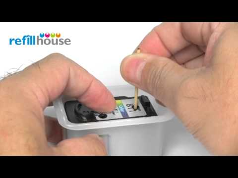 How to refill Canon CL-811, CL-811XL Inkjet Cartridge - Auto-Refill System