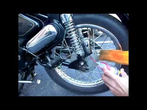 Clean Royal Enfield Motorcycle With Microfiber Duster Easily