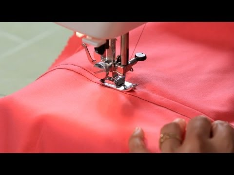 How to Sew a Flat Felled Seam | Sewing Machine