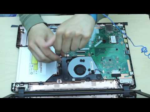asus x551M Laptop disassembly remove motherboard/hard drive/ram etc...