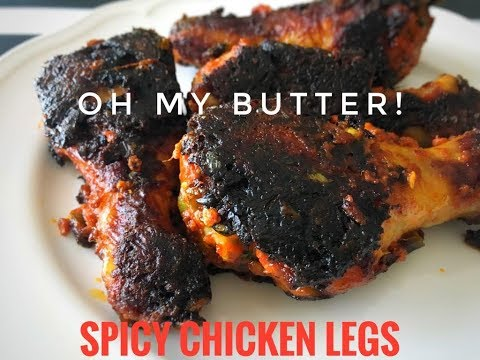 Pan Fried Spicy Chicken Legs| OH MY BUTTER| How to cook chicken