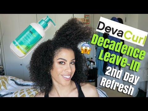 DEVACURL DECADENCE LEAVE-IN | 2ND DAY REFRESH | kinkysweat