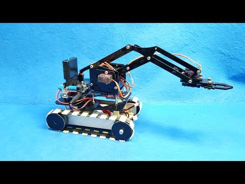 How to make a RC Tank Robot Arm