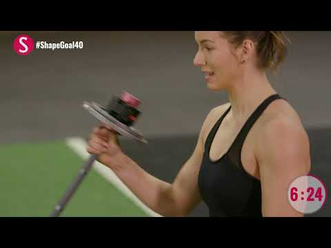 The 10-Minute Barbell Workout  | #CrushYourGoals with Jen Widerstrom | SHAPE