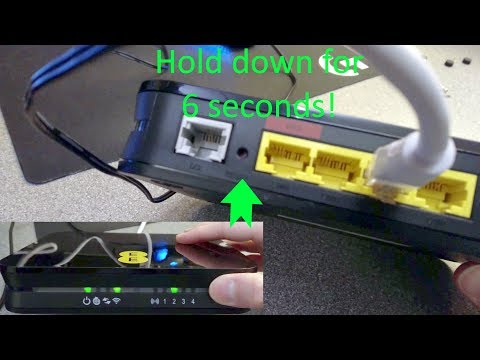 How to factory reset an EE Bright Box Wireless Router