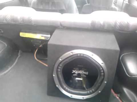 12 inch sony xplod subwoofer 300rms 1000w jvc amplifier 800rms