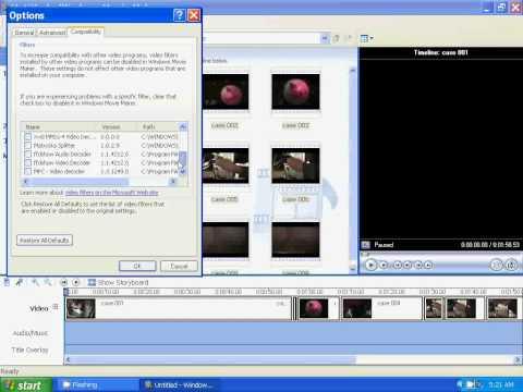 How To Fix A Windows Movie Maker Crashing Problem