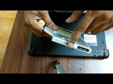 how to remove dvd drive of toshiba c660 laptop