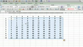 How To Make A Multiplication Mosaic In Excel Using Microsoft Excel