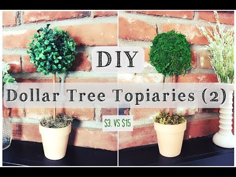 DIY Topiary | Dollar Tree Room Decor for $3