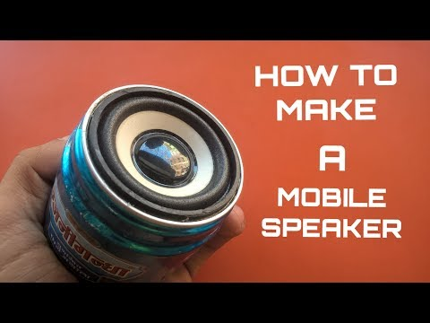How To Make A Simple DIY Mobile Speaker At Home (From Scratch)