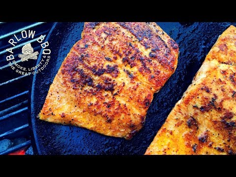 Pan Seared Steelhead Trout Recipe on the Weber Kettle Grill | Cast Iron Skillet Recipes | Barlow BBQ