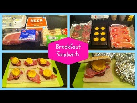 Easy Breakfast Sandwich! Mini freezer cooking session!