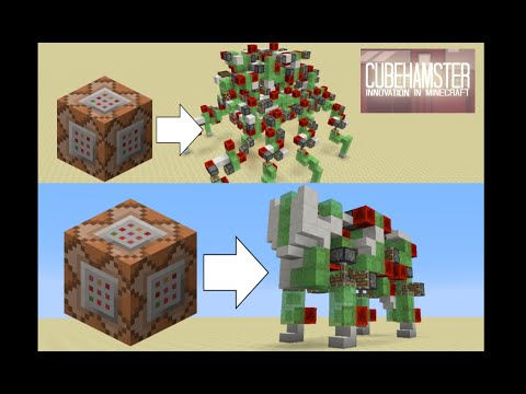 Spawn Spider & Kitty Robots with Command Blocks for Minecraft 1.8