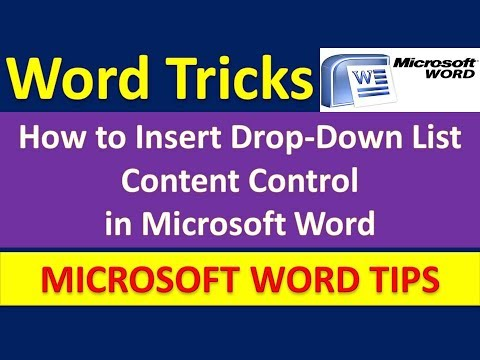 How to Insert Drop-Down List Content Control in Microsoft Word [Urdu / Hindi]