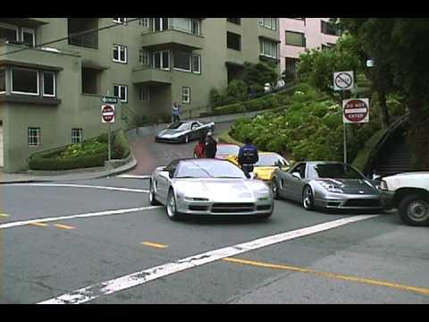 24 NSX On Lombard Street San Francisco