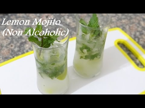 Lemon Mojito  Non Alcoholic Recipe - How to make Lemonade Cocktail Recipe - Mojito Drink