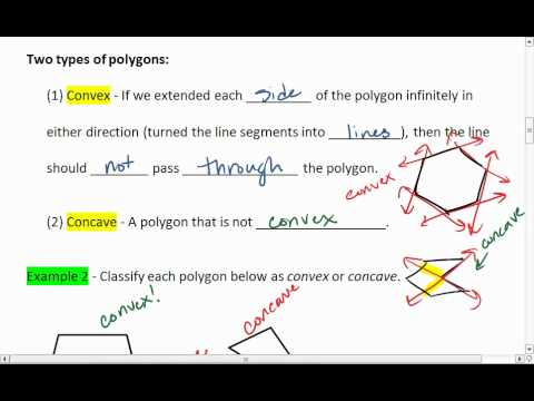 1.6 (2 of 4) Naming Polygons by Number of Sides