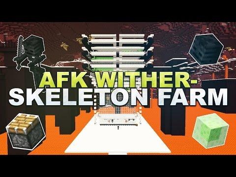 Minecraft - AFK Wither Skeleton/Skull Farm - Tutorial 1.12