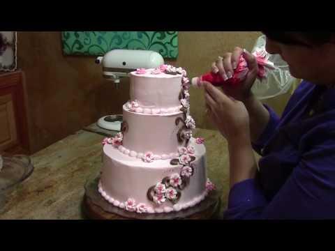 Cherry Blossom Wedding Cake / Cake Decorating