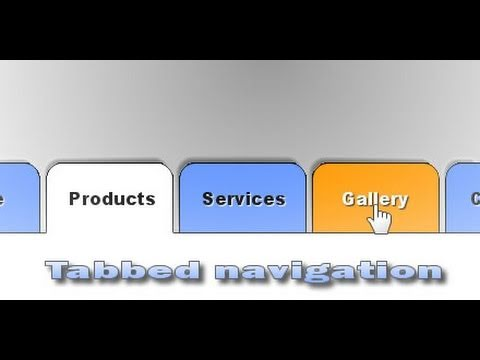 CSS Tabbed Navigation Menu - 1 of 2