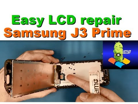 HOW TO REPLACE THE LCD SCREEN ON ON SAMSUNG J3 QUICK EASY AND STEP BY STEP