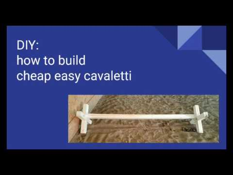 DIY:  cheap easy cavaletti