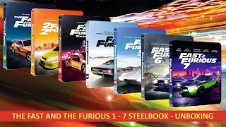 THE FAST AND THE FURIOUS 1 - 7 STEELBOOK (Blu Ray) UNBOXING
