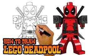 How To Draw Lego Deadpool Art Lesson For Kids