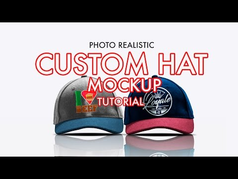 How to Design A Photorealistic Custom Hat/Cap Mockup in Photoshop   Tutorial