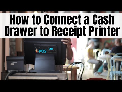 How to Connect a  Cash Drawer to Receipt Printer