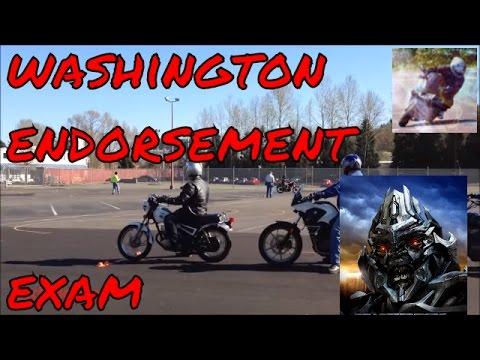 Motorcycle test: Washington state endorsement exam (2013) #24
