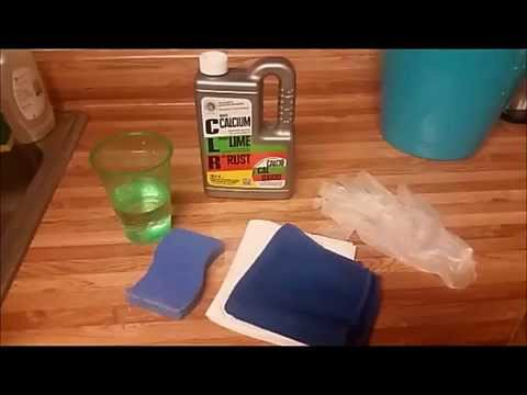 Getting Rid of Water Stains Using CLR