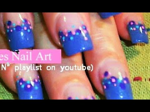 Easy Nail Art for Beginners | DIY Polka Dot Nail Art design Tutorial