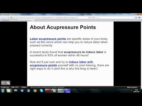 Induce Labor with Acupressure Points