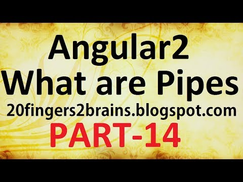 Angular 2 - How to use Pipes