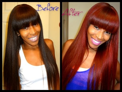 HOW TO: Brown hair to RED hair without Bleaching!