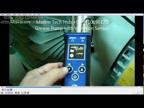 Grease Pump With Vibration Sensor