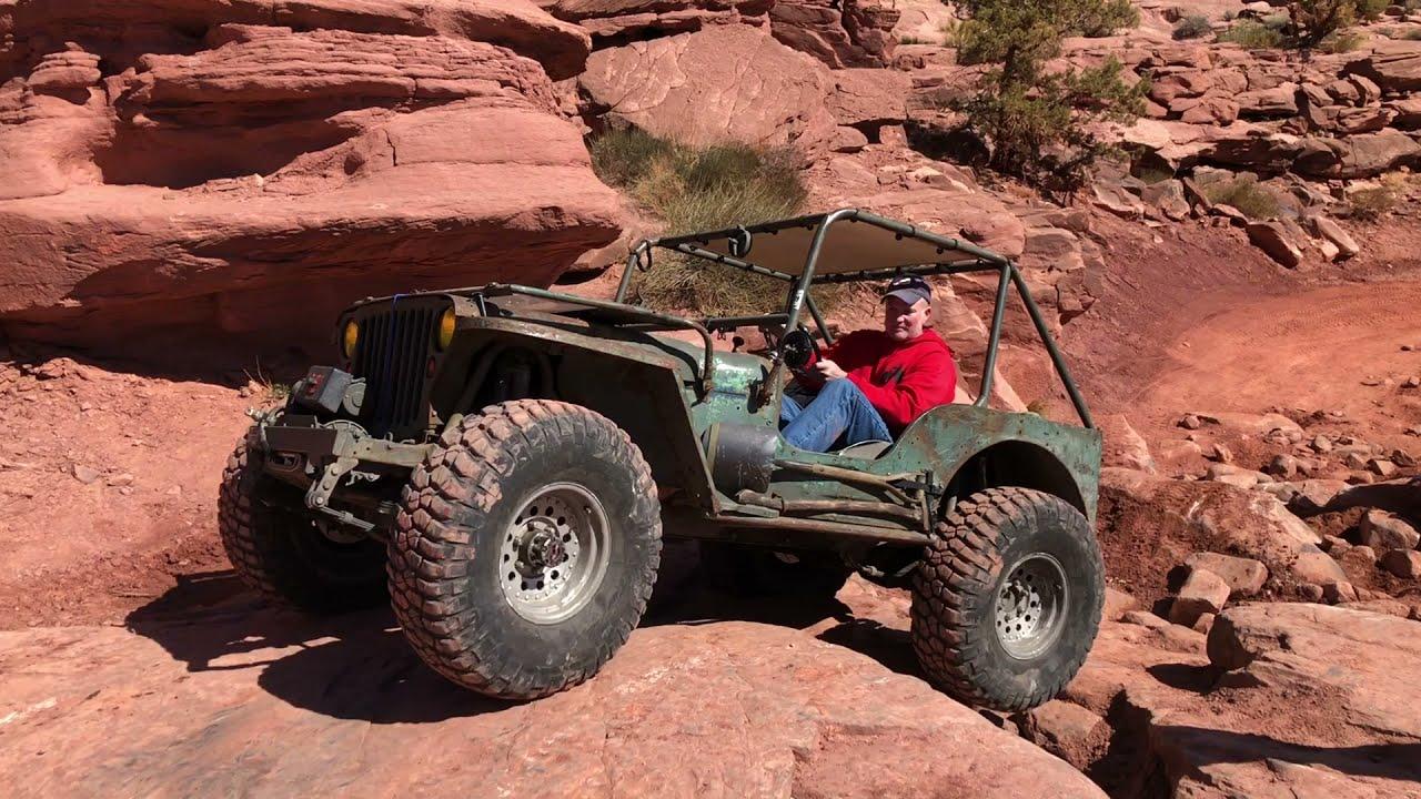 Vintage Willys Jeeps on Cliffhanger in Moab Utah EJS2021