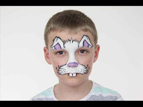 Easter Bunny Face Paint Tutorial | Halloween | Rabbit Face Paint For Kids | Shonagh Scott