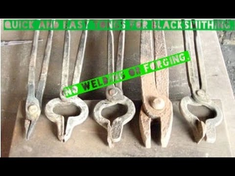 How to make blacksmith tongs easy and simple
