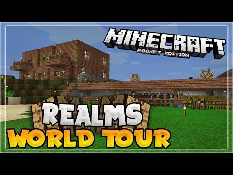 MCPE REALMS WORLD TOUR!!! - Survival Multiplayer - Minecraft PE (Pocket Edition)