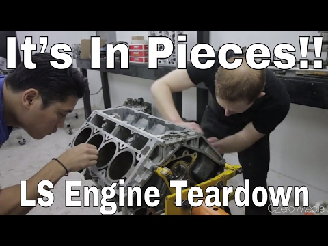 LS6 Engine TEARDOWN! -  V8 FD RX7 Race Car Build Video Series 26