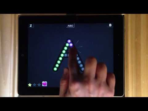 Interactive Alphabet - Tracing switch to Upper Case and trace upper letter A and the word ANT