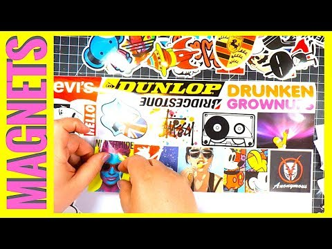 Make Your Own Magnets || How To Make Stickers Into Magnets || Fngeen Sticker Packs