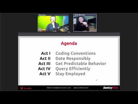 T-SQL: Bad Habits and Best Practices with Aaron Bertrand