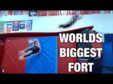 WORLD'S BIGGEST FORT (Flips inside!)