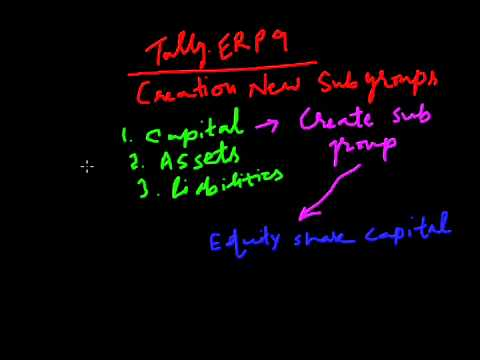 Tally.ERP 9 ( Part 7 ) - Creation of Sub Groups