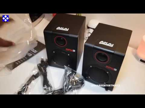 AKAI Pro - RPM3 Studio Monitor Speakers with USB Audio Interface (Late Unboxing)